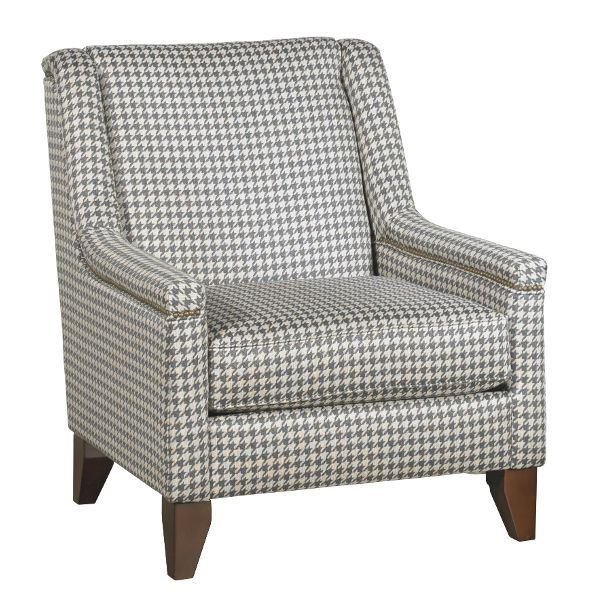 Gray And Beige Houndstooth Accent Chair Kemp Chair Accent