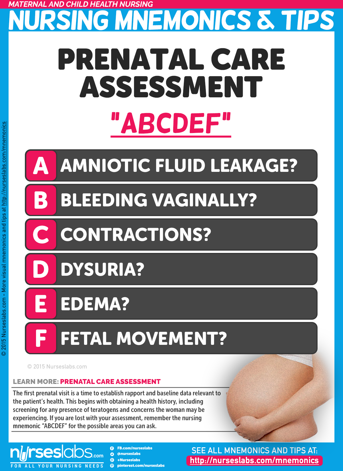 obstetrics nursing assessment The need for a reliable and valid obstetric triage tool is crucial to eliminate time delays, not just patient to initial nursing assessment time, but patient to provider delays with these main outcome measures in mind, the reliability of the obstetric triage acuity scale (otas) was tested in 2011 ( smithson et al, 2013 .