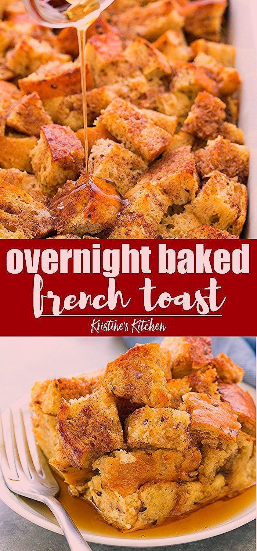 Über Nacht gebackener French ToastAuflauf  dip toast toast design hawaii rezepte ideas rezepte rezepte mit ei überbacken rezept