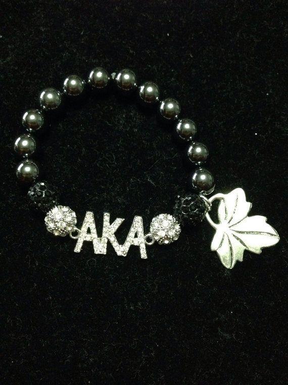 Alpha Kappa Alpha bracelet  by CrisCustomCreations on Etsy