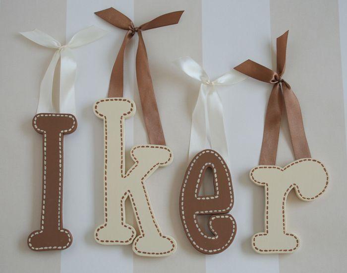 letras de madera para decorar paredes
