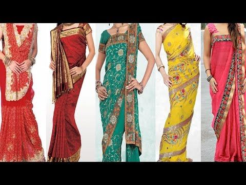 3c43e177d3bb66 How To Wear Saree In Different Styles For Party & Weddings - half saree  Style saree draping. - YouTube