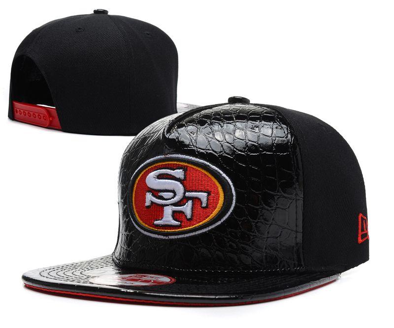 Nfl san francisco 49ers hats new era 9fifty hats all black