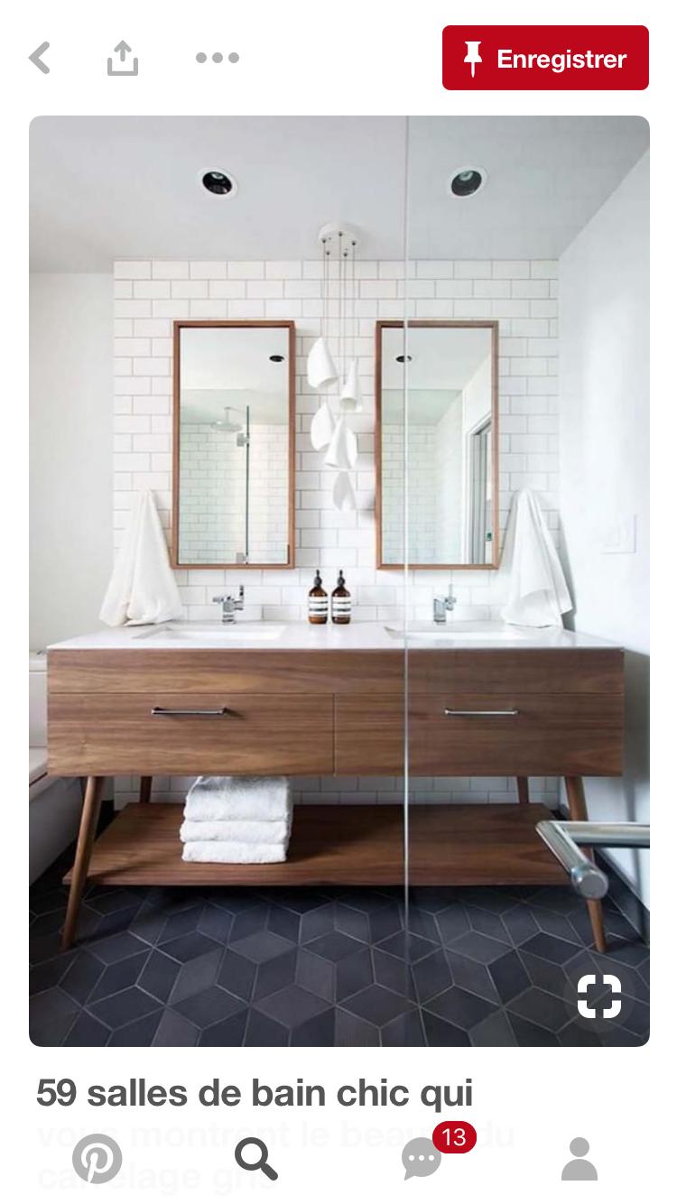 Pin by estelle tur on 17 Rue de dunkerque  Bathroom vanity