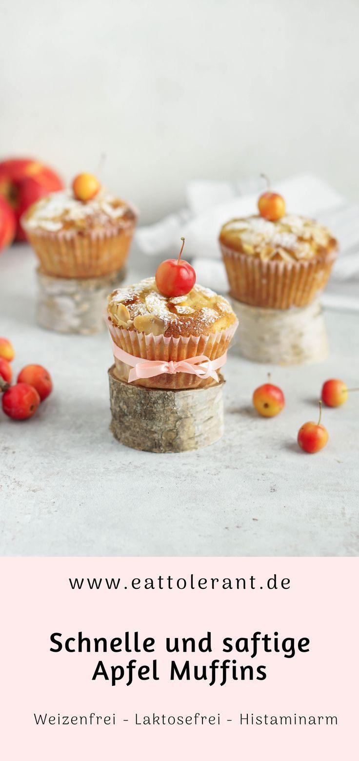 Schnelle und saftige Apfel Muffins
