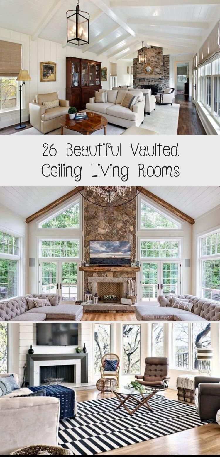 26 Beautiful Vaulted Ceiling Living Rooms Vaultedceilingdecor Vaulted Ceiling Living Room Farm House Living Room Farmhouse Living