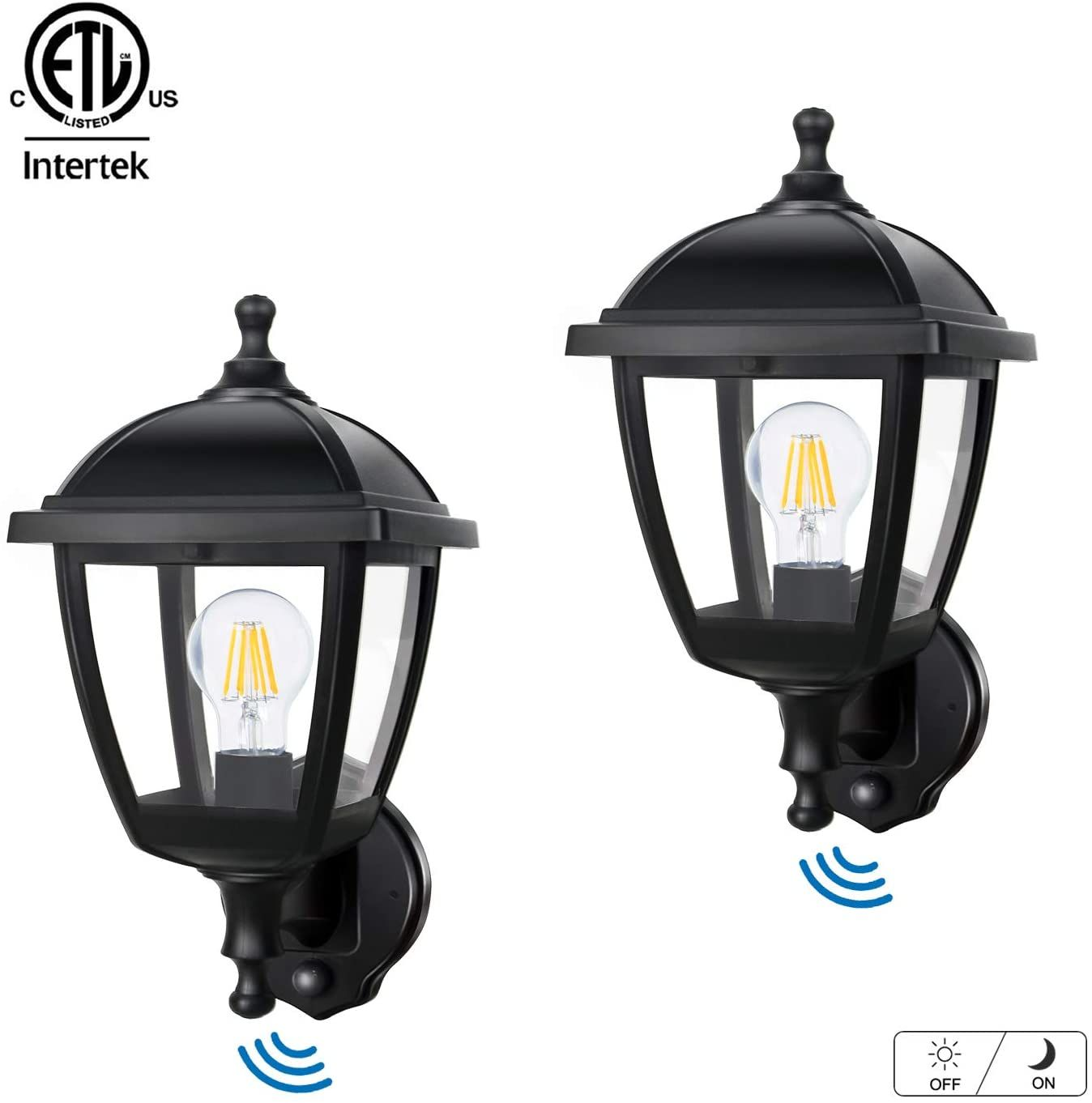 Fudesy 2 Pack Outdoor Wall Lights With Dusk To Dawn Sensor 12w Plastic Corded Electric Exterior L Outdoor Wall Lights Exterior Light Fixtures Exterior Lighting Dusk to dawn light fixture
