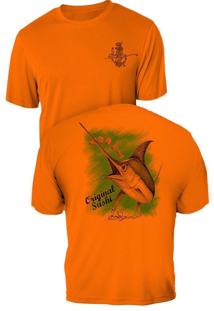 Original Sushi- UV Sun Protection Shirt - 100% Polyester - Short Sleeve UPF 30