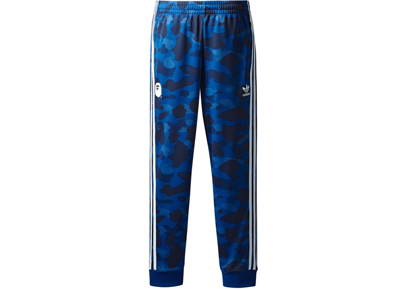 6522b072 Bape x adidas adicolor Track Pants Blue Buy and sell authentic BAPE  streetwear on StockX including