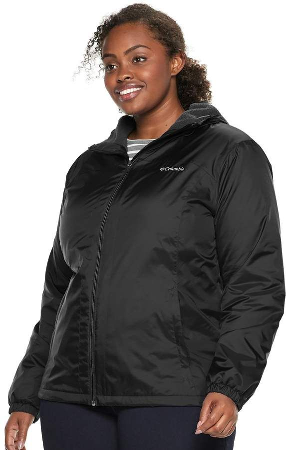 9663b535082 Columbia Plus Size Rain to Fame Hooded Sherpa-Lined Jacket ...