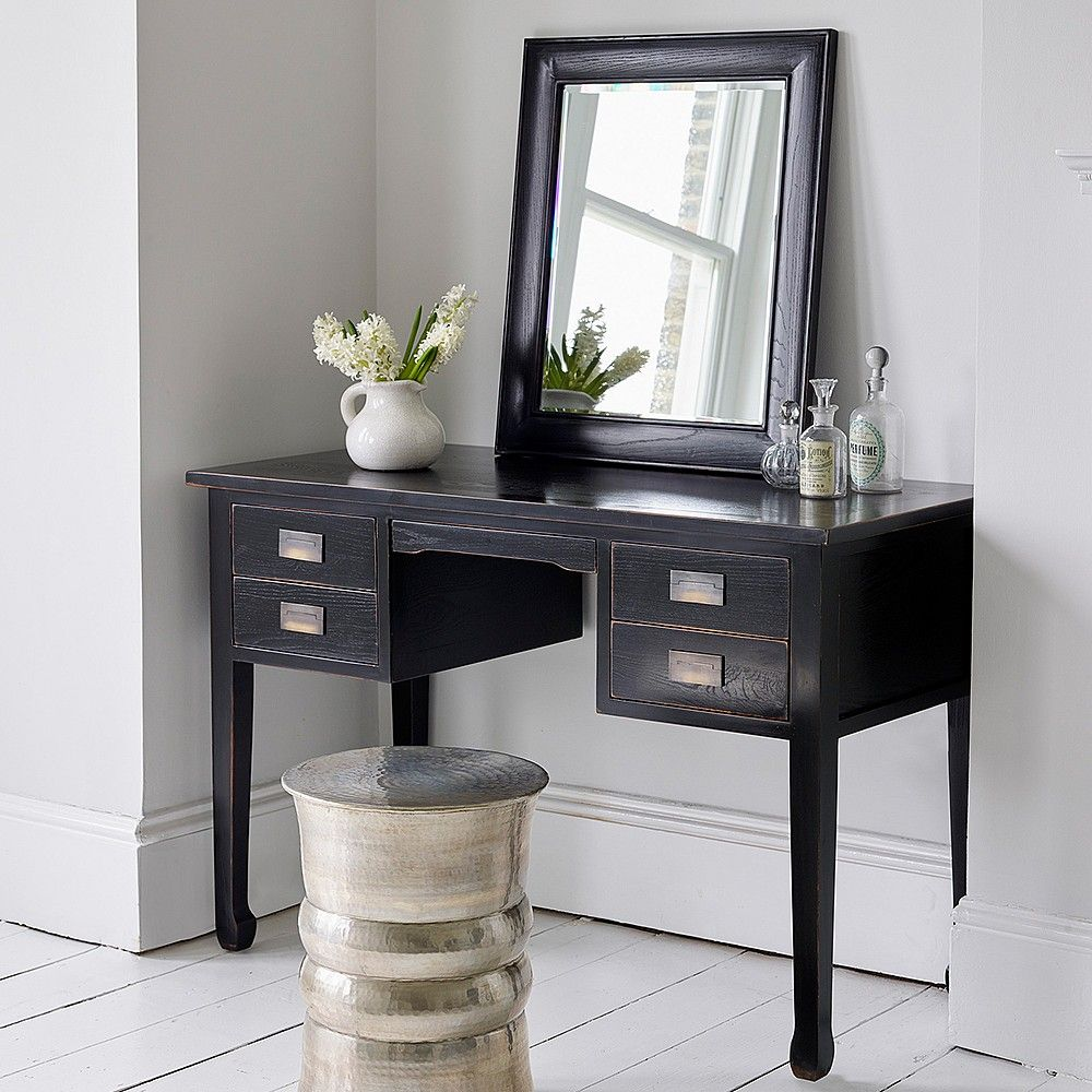 Best Canton Black Lacquer Dressing Table Black Dressing 400 x 300