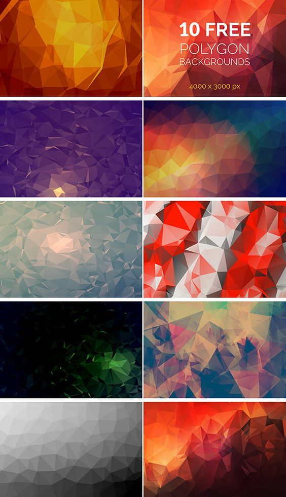 28+ Wonderful Free Polygon Background Packs Postcard