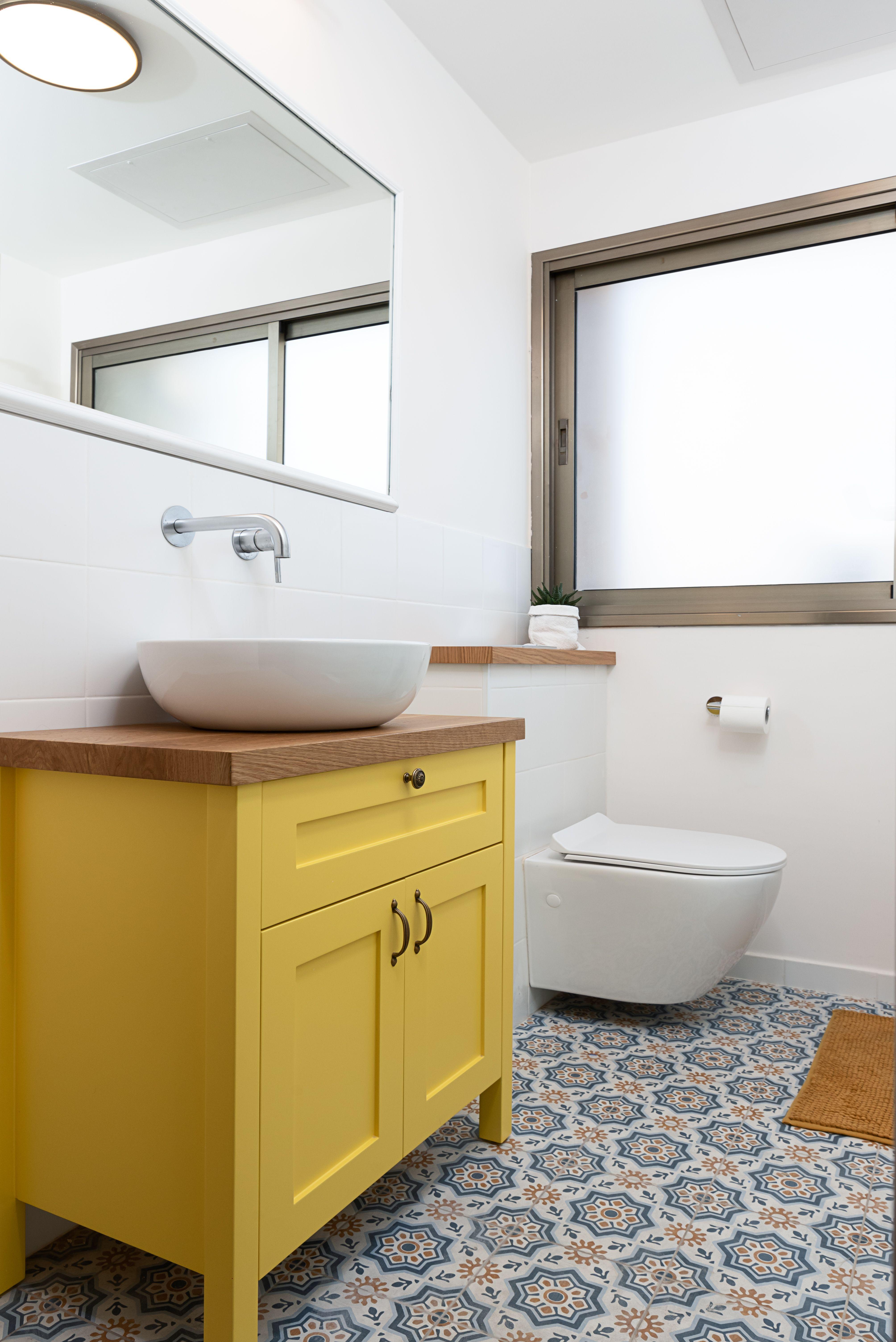 Yellow Bath Cupboard Yellow Cupboards Yellow Bathrooms Laundry Room Bathroom