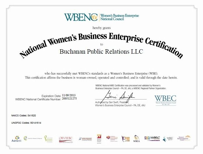 Our WBENC certification - proud to be a woman-owned business ...