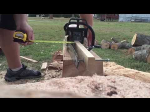 Homemade Chainsaw Mill - YouTube