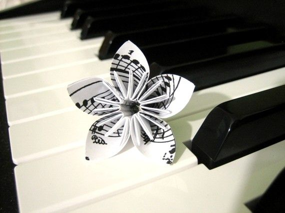 Music Notes Paper Flower By Fikas Art Box Inspiration Paper