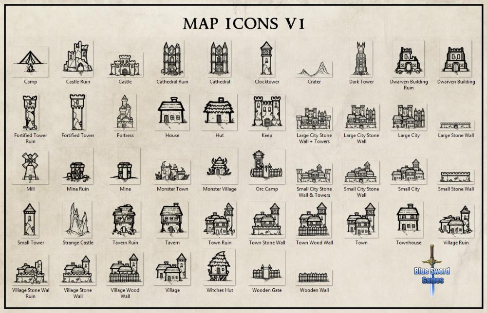 Map Icons Fantasy World Map Map Icons Fantasy Map Making