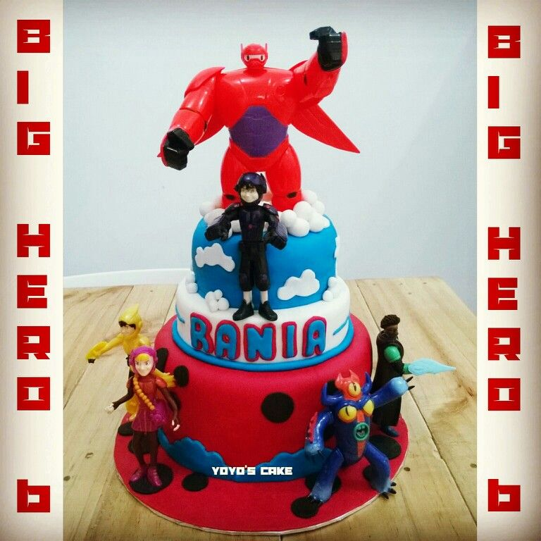 Big hero 6 birthday cake for rania by yoyos cake