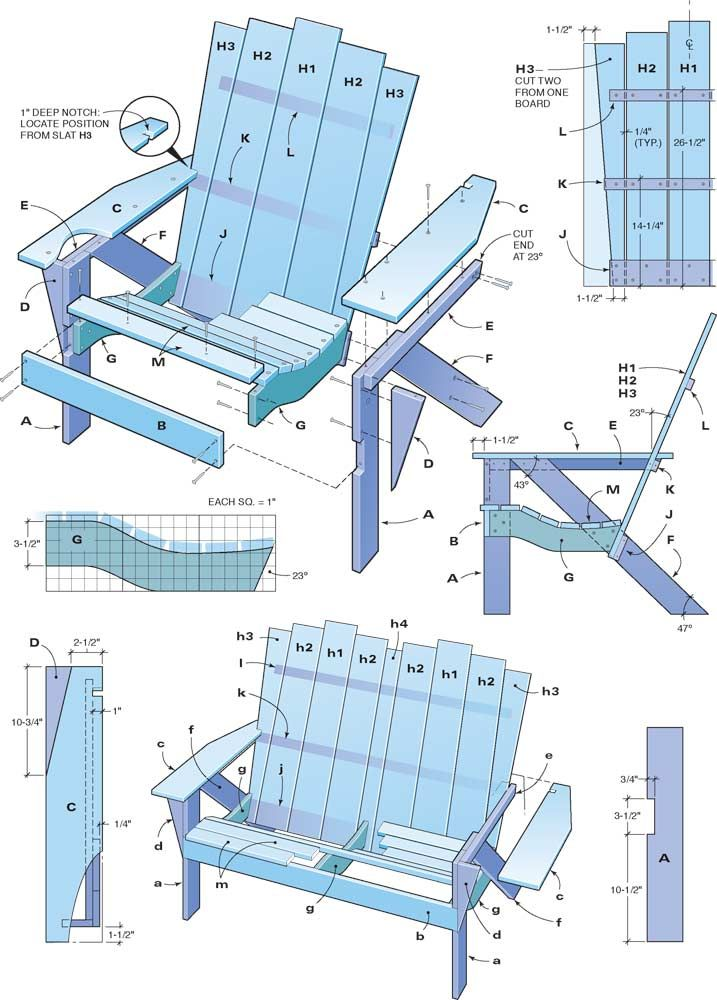 How To Make An Adirondack Chair And Love Seat Diy Plans Pallet