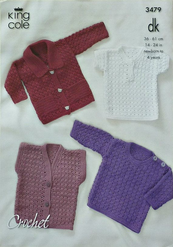 Baby Crochet Pattern C3479 Crochet Pattern Babies 4 Jackets And Tops