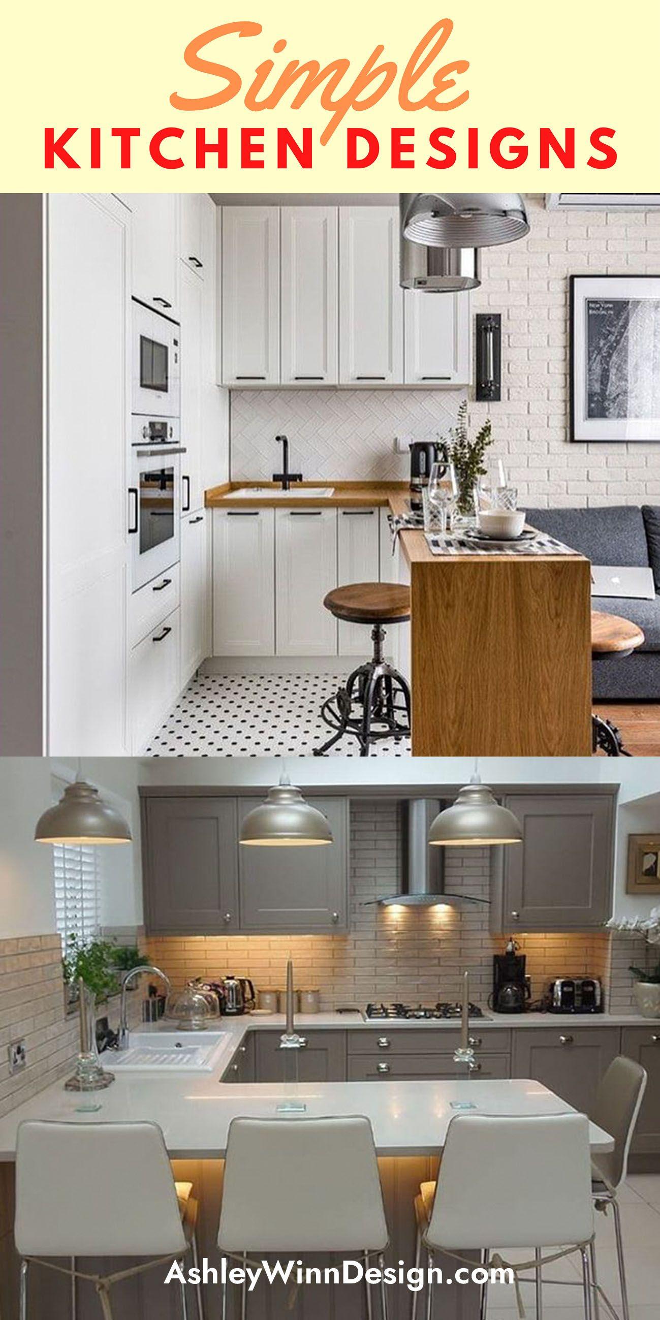 33 Attractive Small Kitchen Design Ideas In 2021 Budget Kitchen Solution Kitchen Design Small Simple Kitchen Design Simple Kitchen