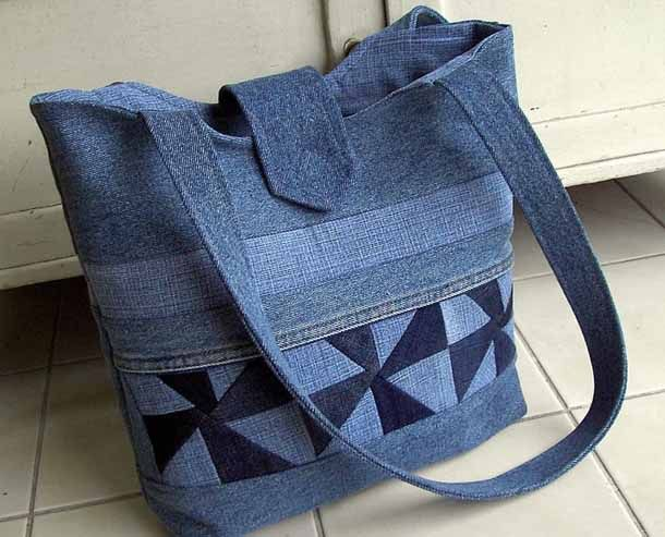 recycled jeans bags sewing tote bags pinterest taschen n hen n hen und jeanstasche. Black Bedroom Furniture Sets. Home Design Ideas
