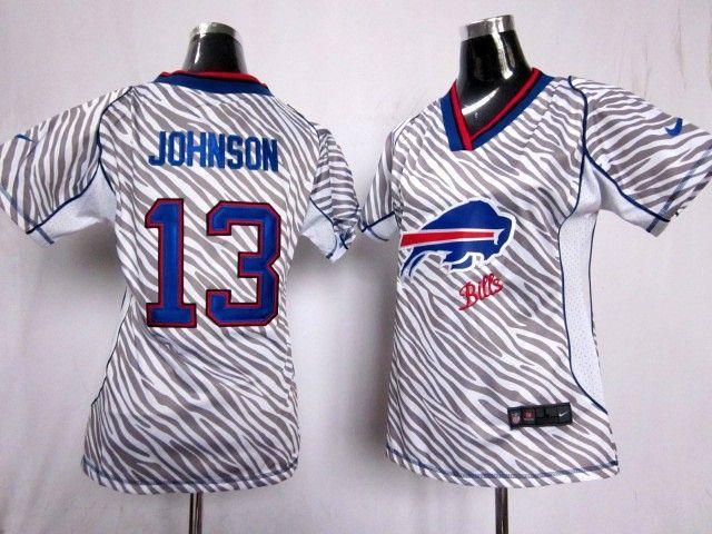 nike women buffalo bills johnson white zebra field flirt fashion women nfl jersey