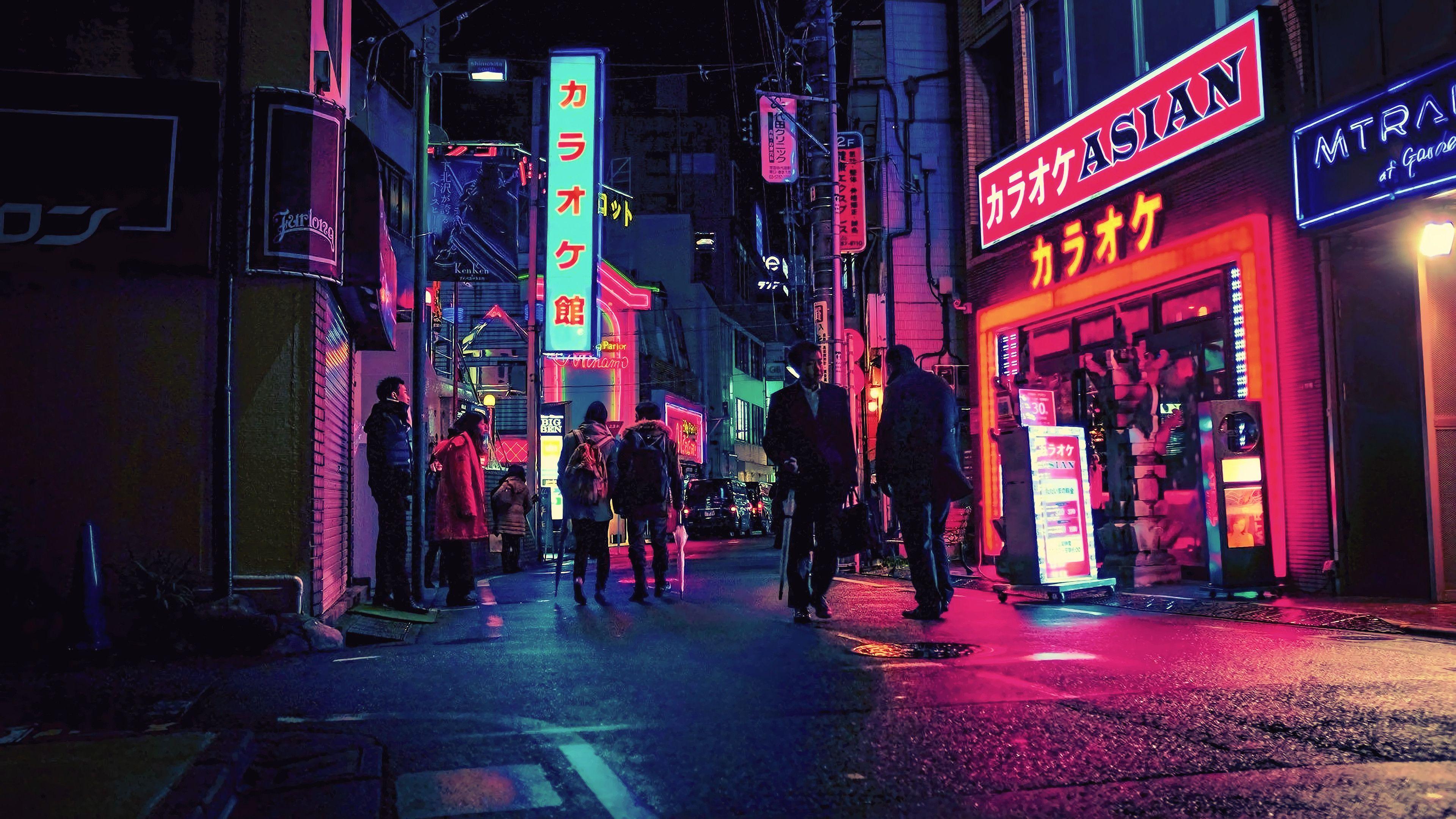 Neon Japan [3840x2160] Fond ecran, Écran