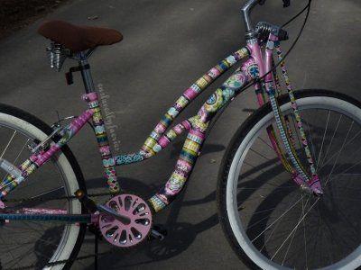 Diy Mod Podge Bike Makeover Mod Podge Diy Projects Biking Diy Diy Mod Podge