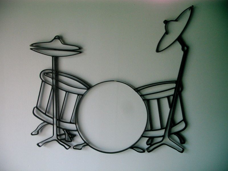 metal wall art drum sets iron guitar wall decor giftyourguy