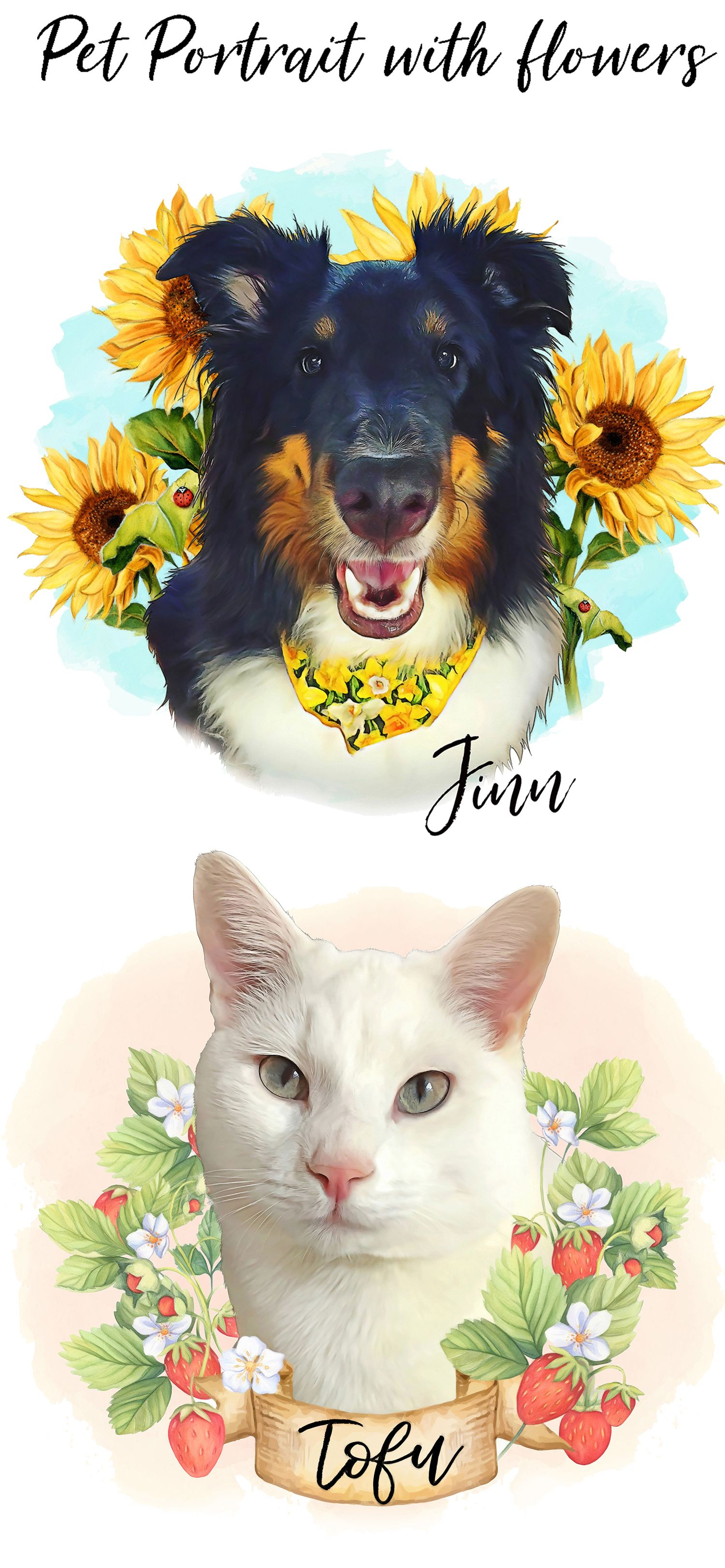 These Digital Pet Portraits Would Be The Loveliest Birthday Gift