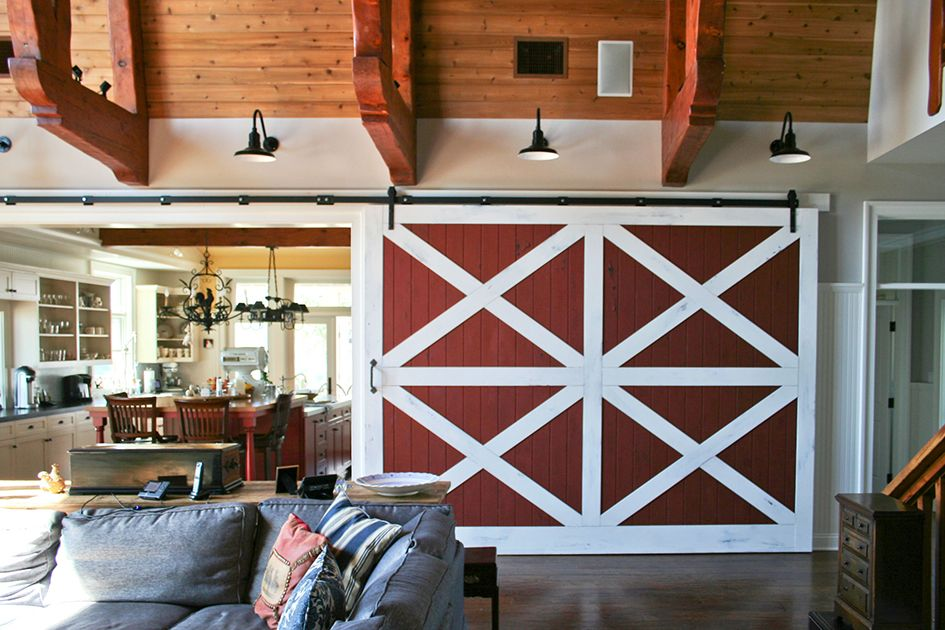 Real Sliding Hardware Holding Up A Big Barn Door Rustic Barn