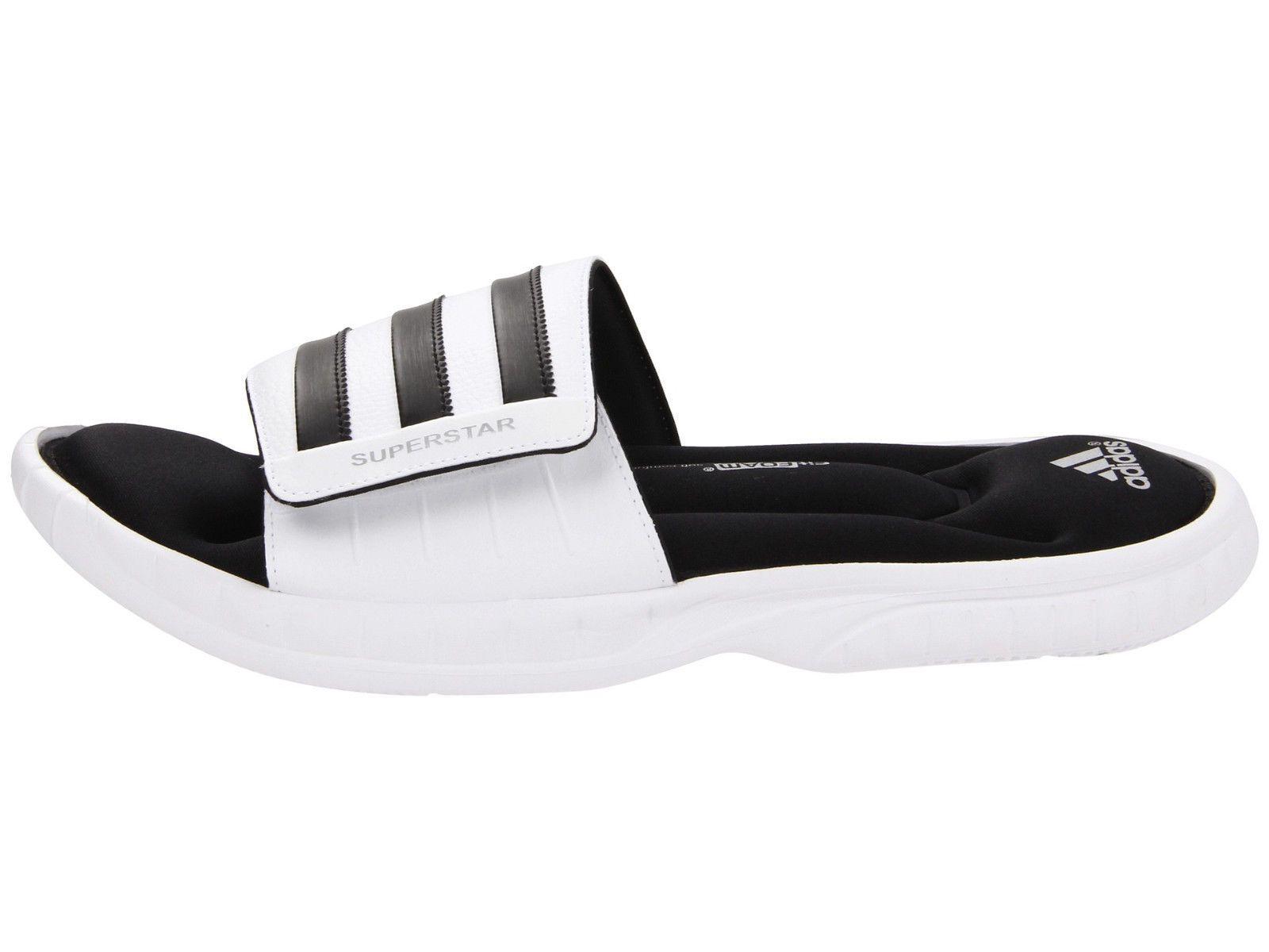 Mens Adidas Superstar 3G White Slides Athletic Sport Sandals G61951 Sizes  10-13  34.99 End 91c667f15