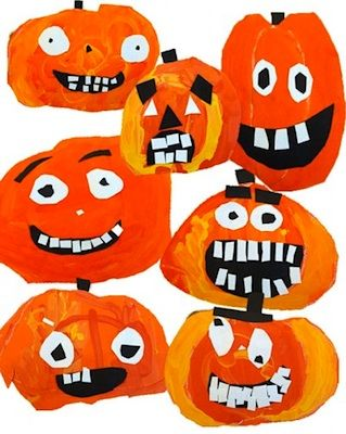 Pumpkin Face Paper Craft - Things to Make and Do, Crafts and Activities for Kids - The Crafty Crow