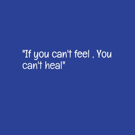 """In-your-face Poster """"""""if you can't feel , you can't heal"""""""" #760847 - Behappy.me"""