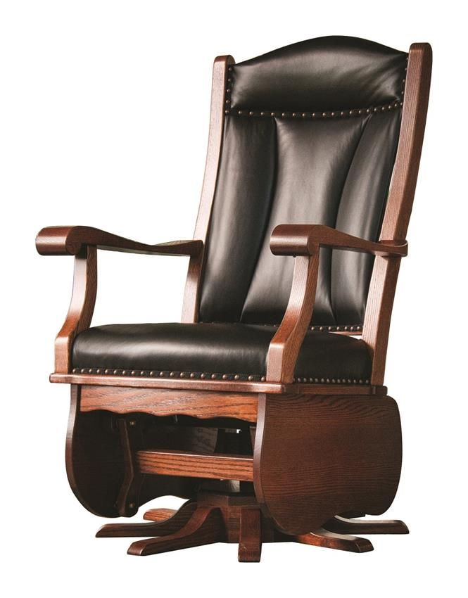 Incroyable Amish Heritage Swivel Glider Rocking Chair