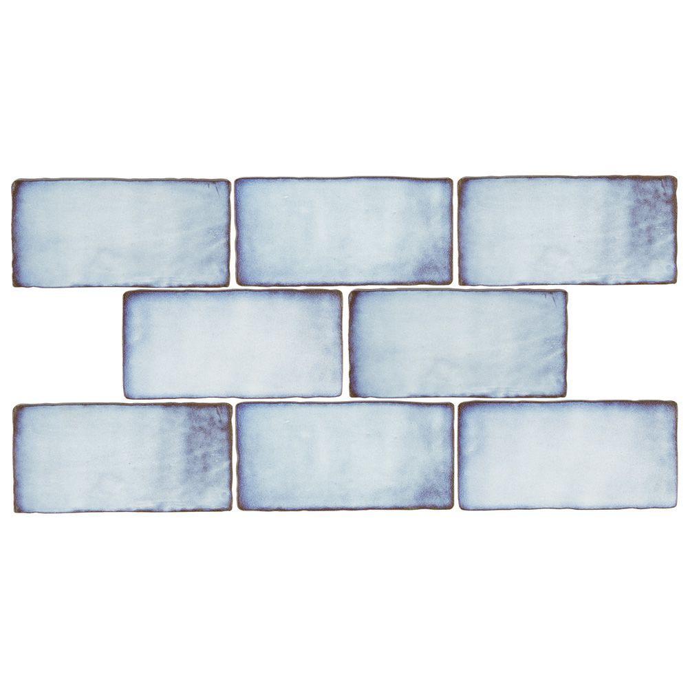 Merola Tile Antic Feelings Lava Verde 3 Inch X 6 Inch Ceramic Wall