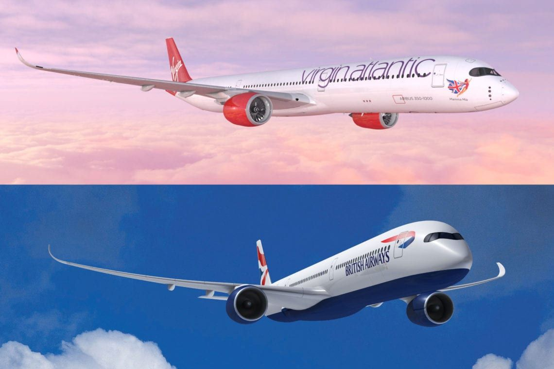 British Airways A350 Vs Virgin Atlantic S A350 What Plane Is Better