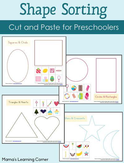 shape sorting printables packet preschool math activities preschool learning preschool. Black Bedroom Furniture Sets. Home Design Ideas