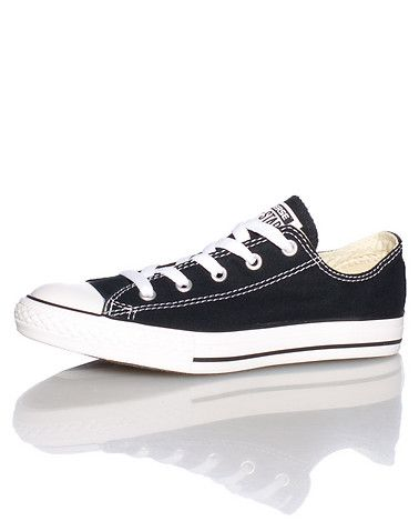CONVERSE Children's low top sneaker Lace up cloure Canvas body/upper CONVERSE all star logo on side ... Preschool sizes. Canvas. Black 3J235.