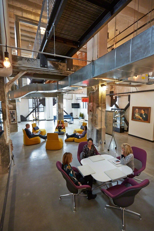 Campbell Ewald Office Space Design Workspace Design Open Concept Office