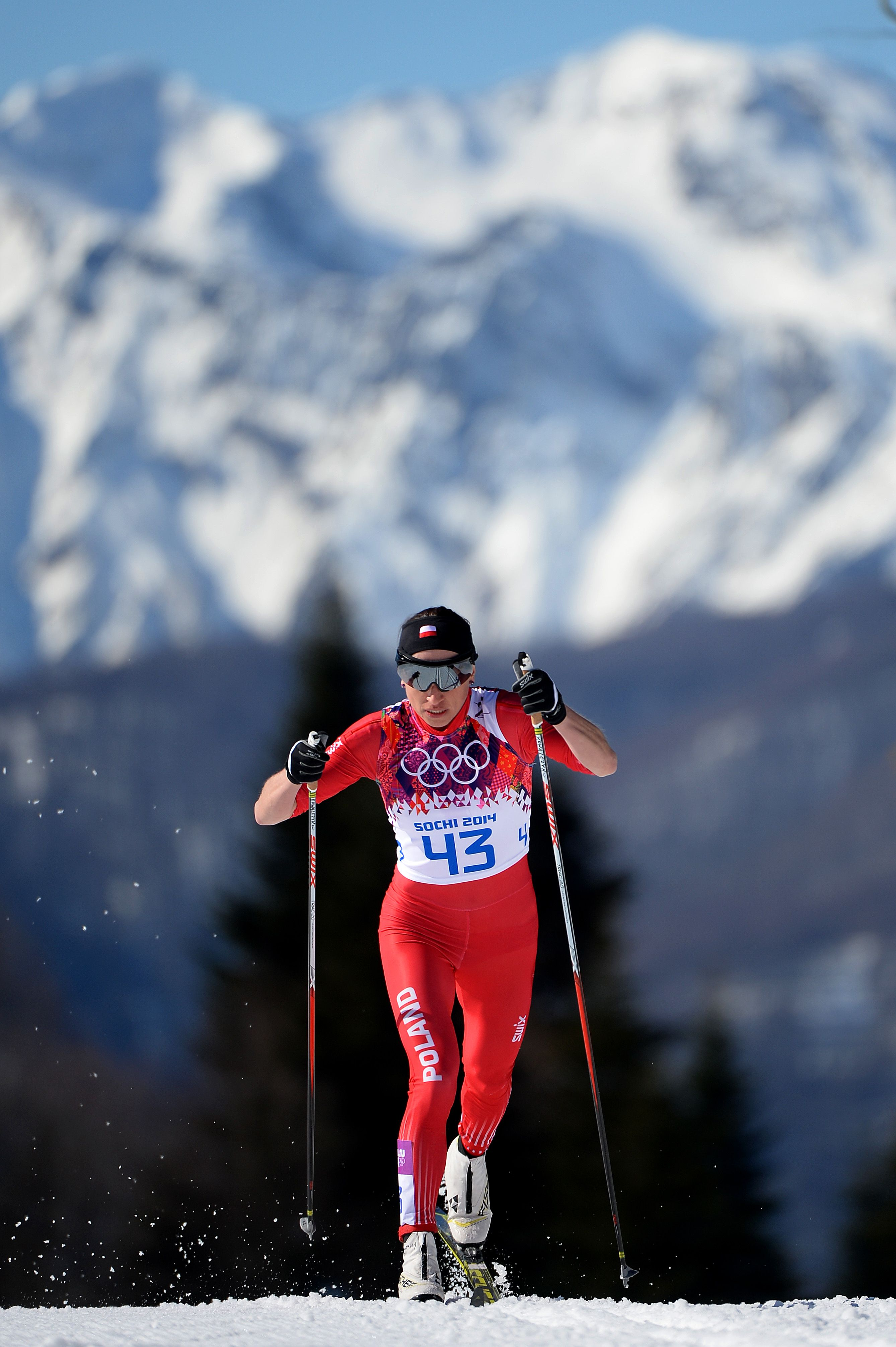 Justyna Kowalczyk Of Poland Competes In The Women S 10 Km Classic C Getty Images Cross Country Skiing Ski Women Winter Olympics 2014