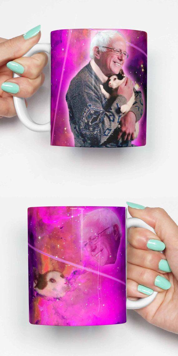 Bernie Sanders Cat Funny Mug Gifts For Him Meme Mug Unique Mug Office Mug Housewarming Gift Gifts Fo Christmas Mugs Funny Mugs Great Housewarming Gifts