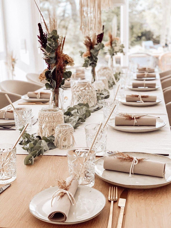 Tischdeko Mit Viel Liebe Gedeckt Bohostyle Hochzeit Deko Tisch Dekoration Hochzeit Tischdekoration Hochzeit