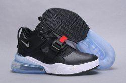 6ec0bf845 Men s Nike Air Force 270 Metallic Silver Black AH6772 001 Boys Running Shoes