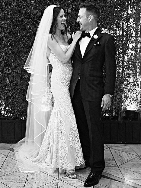 """Celebration time! David Arquette has married his fiancee Christina McLarty, Us Weekly can confirm. The couple said """"I do"""" in an intimate ceremony in front of close family and friends in Los Angeles on Sunday, April 12."""
