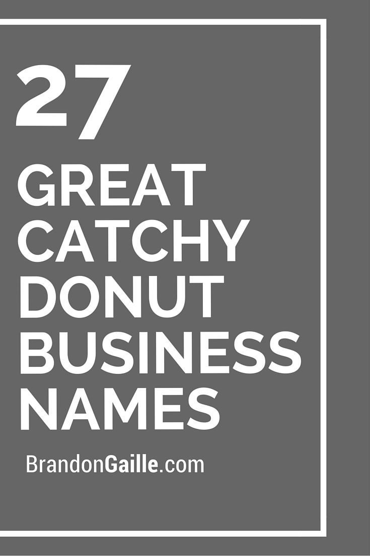 29 Great Catchy Donut Business Names | Catchy Slogans ...