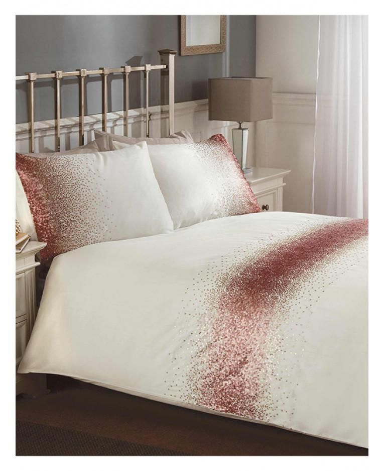Shimmer Sequin Blush Pink Duvet Cover, Blush Pink Glitter Bedding
