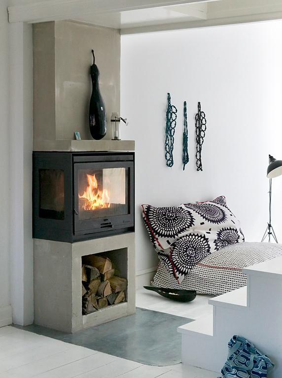 Feuerkasten Kamin  - offene feuerstelle wohnzimmer