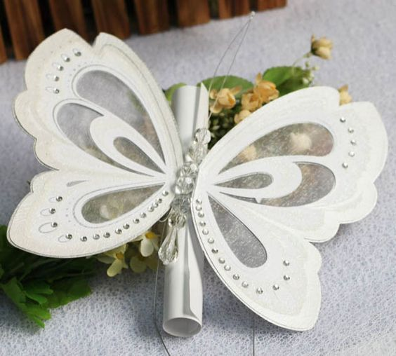 wedding invitation cards templates Butterfly: